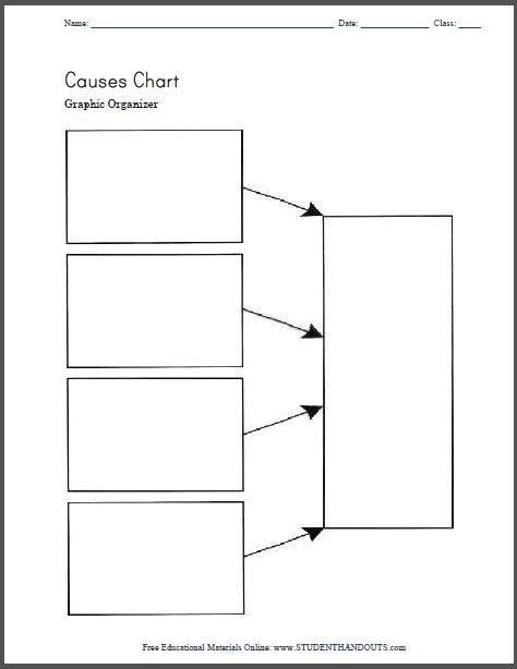 blank biography graphic organizer causes chart graphic organizer free to print pdf file