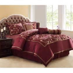 francesca 8pc comforter set burgundy polyester comforter