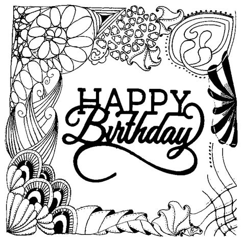 coloring pages for adults birthday adult coloring page happy birthday 2