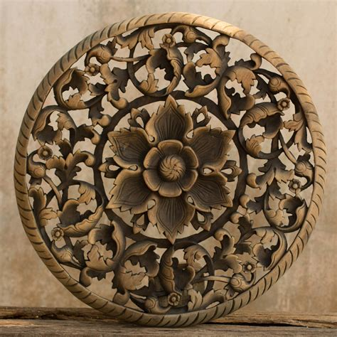 home decorative items tree dimensional floral wooden wall hanging siam sawadee