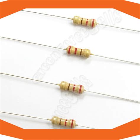 resistor value for led 5v 25 pcs carbon resistors 1 4w 220 ohm 5 for 5v led ebay