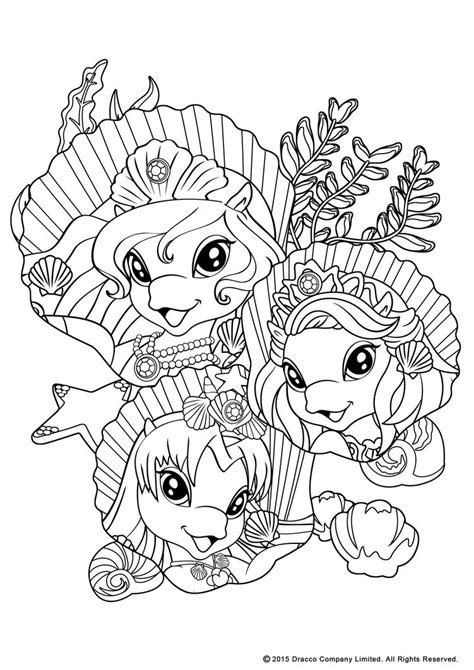 my filly world pony toys coloring pages mermaids 2 by