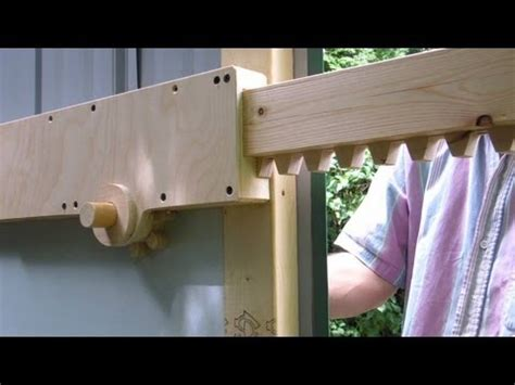 rack  pinion shed door latch youtube