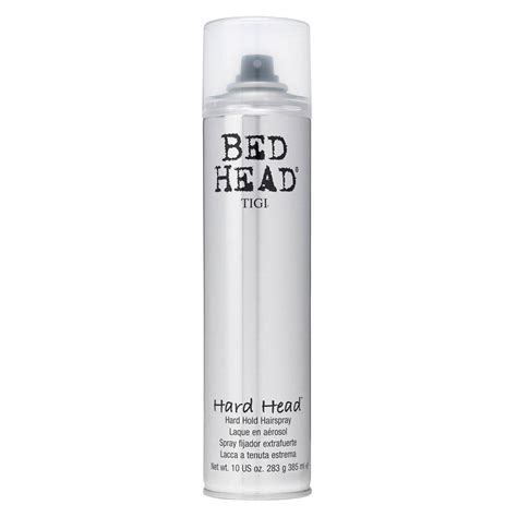 bed head hair spray tigi bed head hard head hairspray hair and beauty online