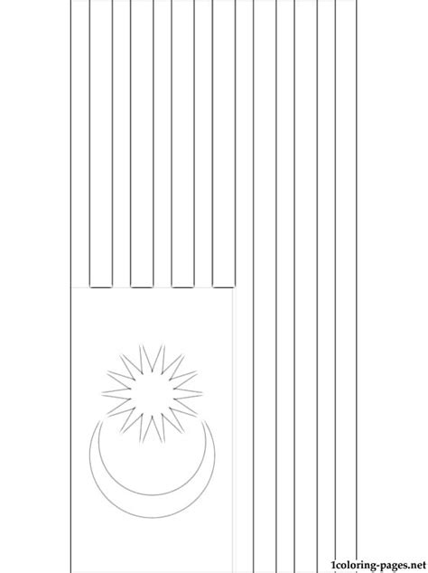 malaysian flag coloring page coloring pages