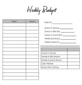 budgeting sheet template sle weekly budget 7 documents in word pdf excel