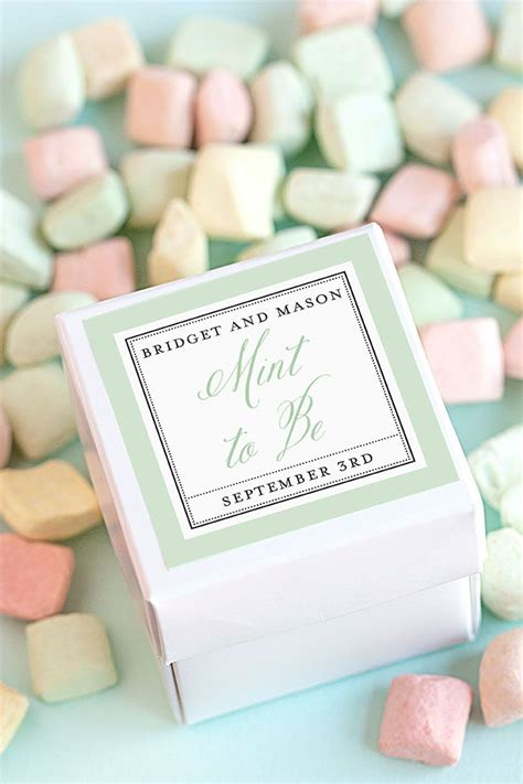 Wedding Favors Mints by Three Budget Friendly Wedding Favor Ideas