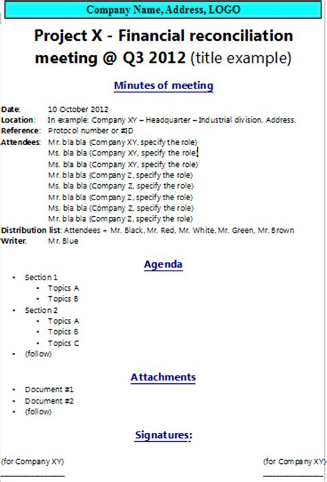 how to write minutes of meeting the project manager pad