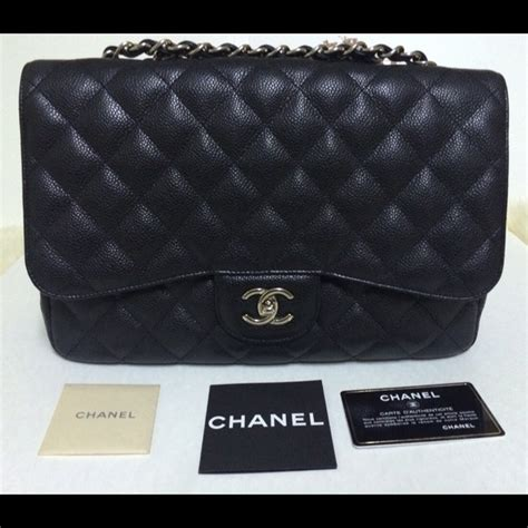 Ode To Kates Jumbo Chanel Flap by Chanel Chanel Jumbo Flap Caviar Black From Chanel S