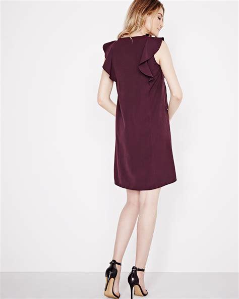 Sleeveless Ruffles Dress sleeveless shift dress with ruffles rw co