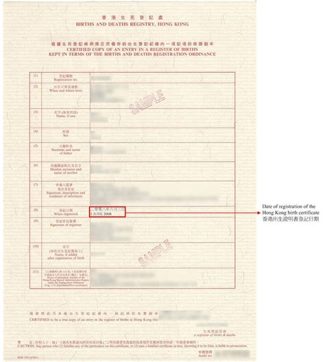 Date Of Birth Record Date Of Issue Of The Hong Kong Identity Card Date Of Registration Of The Hong Kong