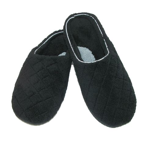 quilted slippers new dearfoams womens quilted microfiber terry clog slipper