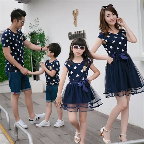 mom dresses son in girls clothes aliexpress com buy star print family matching clothes