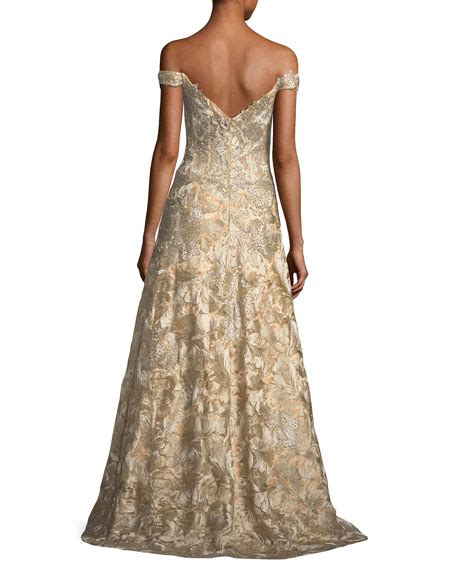 Shoulder Lace Evening Gown jovani the shoulder sweetheart lace brocade evening gown