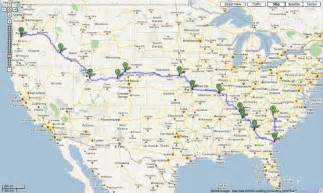 us map for driving drive across the country travel