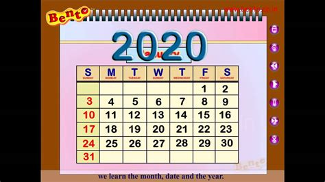 Calendar Song The Calendar Song Children Learn Songs