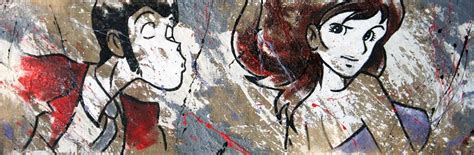 lupin e fujiko letto insieme quadri lupin juta lupin e fujiko disegno 1 vivere zen
