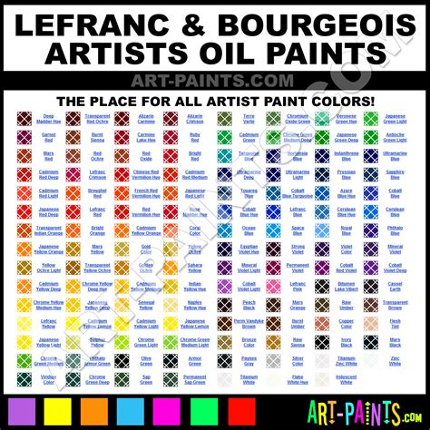 artists colors chart pictures to pin on pinsdaddy