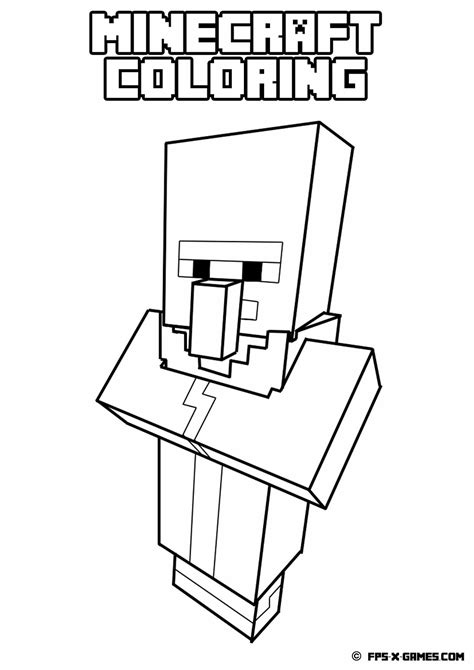 Free Coloring Pages Of A Minecraft Minecraft Coloring Pages To Print