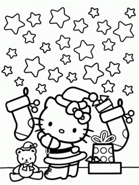hello kitty merry christmas coloring pages christmas hello kitty coloring pages coloring home