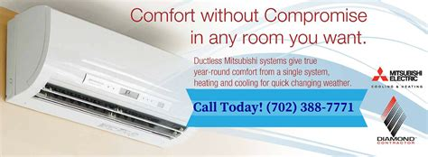 mitsubishi ductless heating and cooling units mitsubishi ductless heating and air conditioning systems