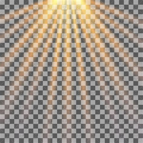 transparent backgrounds sun rays on transparent background vector image vector