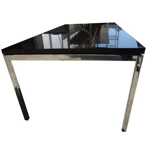 45 quot vintage knoll coffee table with chrome base and