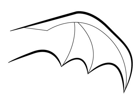 bat wings drawing clipart best