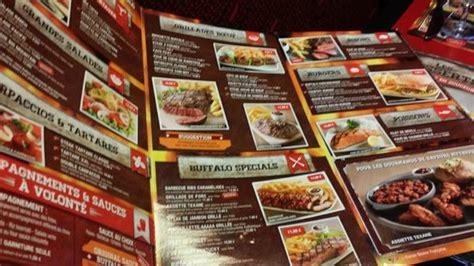 Buffalo Grill Menu by Menu Picture Of Buffalo Grill Tripadvisor