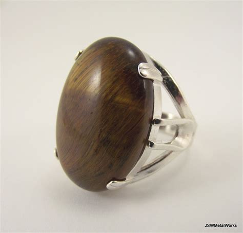 large sterling silver tiger s eye ring silver ring size