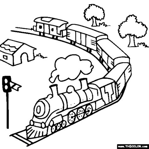 coloring page railcar train and locomotive online coloring pages page 1