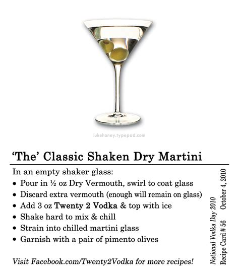 martini two the classic martini recipe dishmaps