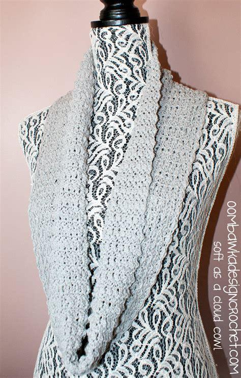 t shirt yarn cowl pattern soft as a cloud one skein cowl oombawka design crochet