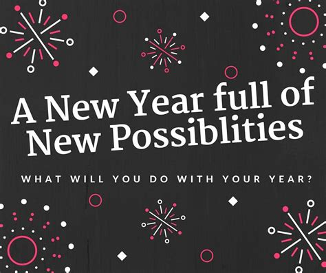 a new year new possibilities