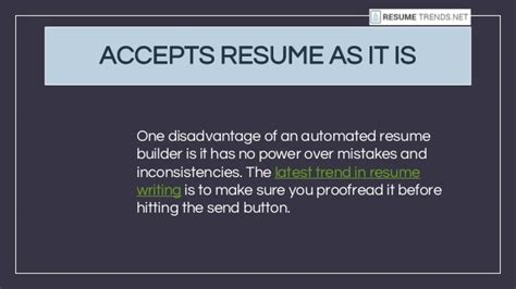 Automated Resume Builder by 10 Reasons Why You Should Never Use An Automated Resume Builder