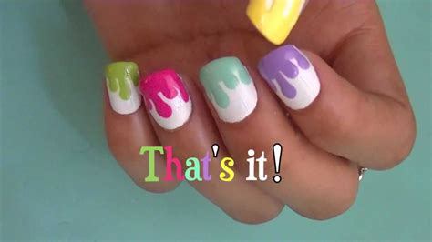dripping paint nail art youtube