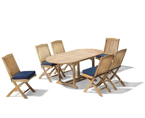Extending Patio Table Brompton Patio Extending Garden Table And Folding Chairs