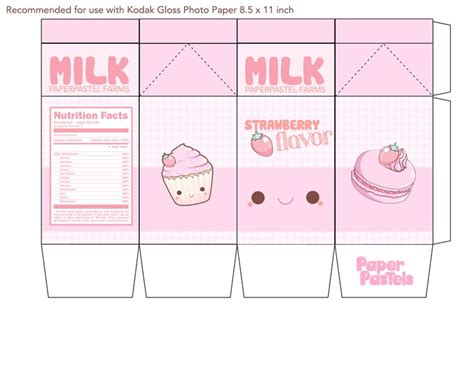Papercraft Milk - label papercraft