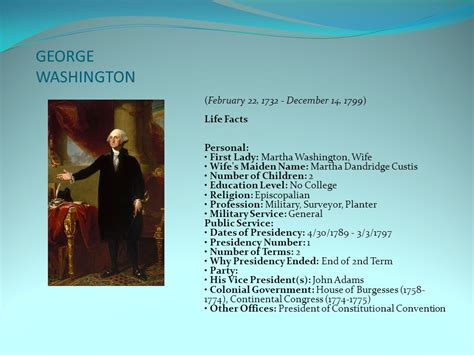 george washington biography education american presidents ppt video online download