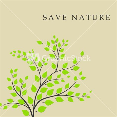 save the nature save the nature concept with green tree