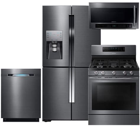 stainless steel kitchen appliance sets images of samsung appliance 4 piece black stainless steel