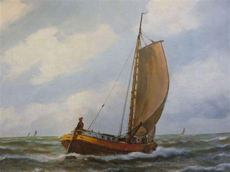 met een platbodem op zee alfred gabali 1886 1963 platbodem op zee catawiki