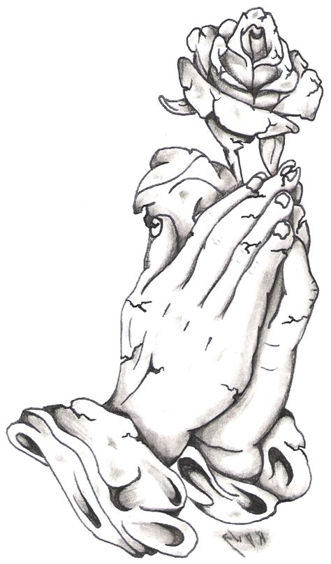 praying hands with roses tattoo designs designs praying best design