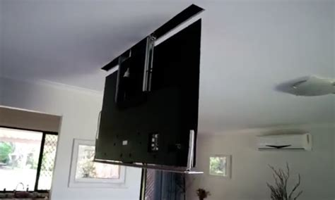 ceiling drop tv mount diy drop ceiling t v will instantly improve your home