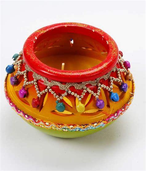 How To Decorate Candles At Home Lieben Mode Embellished Matki T Light Buy Lieben Mode