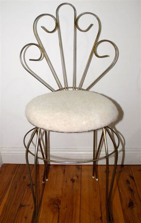 small metal vanity chair retro vintage antique 1960 s metal peacock vanity dresser