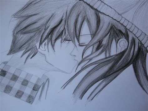 anime couples kissing sketches kissing couple love love love by rheeemeee