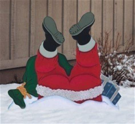 santa wood yard art outdoor santa claus decorations foter