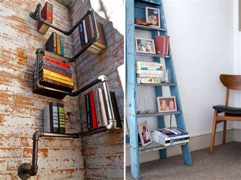 librerie salotto librerie con materiale di recupero foto design mag