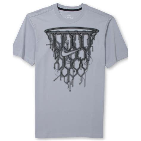 T Shirt Basketball lyst nike basketball net graphic tshirt in gray for